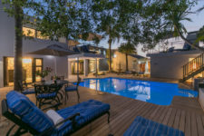 Romantic pool and courtyard