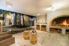 Inviting fire place outside